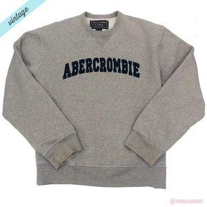 [A&F] Men's VTG Gray Logo Crewneck Sweatshirt